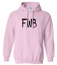 Load image into Gallery viewer, pink FWB hooded sweatshirt for women