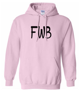 pink FWB hooded sweatshirt for women