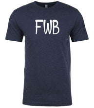 Load image into Gallery viewer, navy fwb mens crewneck t shirt