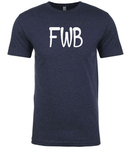 navy fwb mens crewneck t shirt