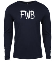 Load image into Gallery viewer, navy fwb mens long sleeve shirt