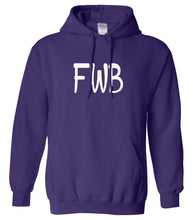 Load image into Gallery viewer, purple FWB hooded sweatshirt for women