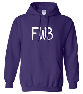 purple FWB hooded sweatshirt for women