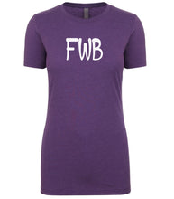 Load image into Gallery viewer, purple fwb womens crewneck t shirt