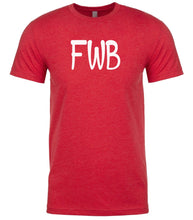 Load image into Gallery viewer, red fwb mens crewneck t shirt