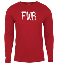Load image into Gallery viewer, red fwb mens long sleeve shirt