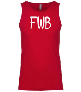 red fwb mens tank top