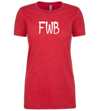 Load image into Gallery viewer, red fwb womens crewneck t shirt