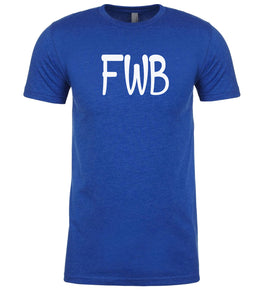 blue fwb mens crewneck t shirt