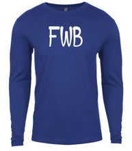 Load image into Gallery viewer, blue fwb mens long sleeve shirt