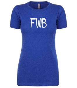 blue fwb womens crewneck t shirt