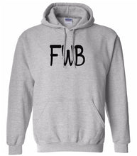 Load image into Gallery viewer, grey FWB hooded sweatshirt for women