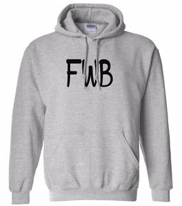 grey FWB hooded sweatshirt for women