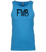 Load image into Gallery viewer, blue fwb mens tank top