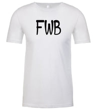 Load image into Gallery viewer, white fwb mens crewneck t shirt