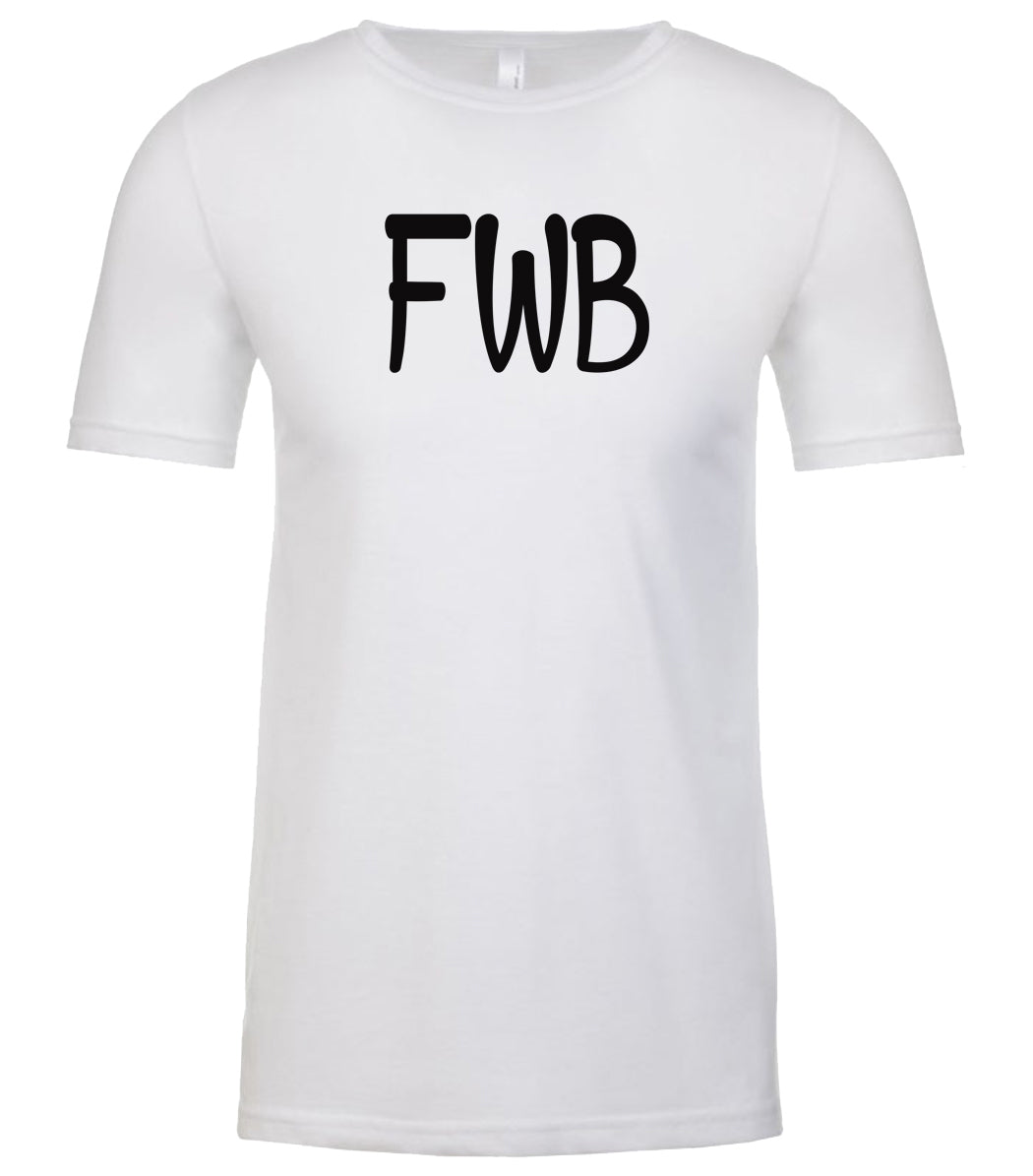 white fwb mens crewneck t shirt