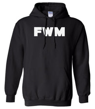 Load image into Gallery viewer, black FWM hooded sweatshirt for women