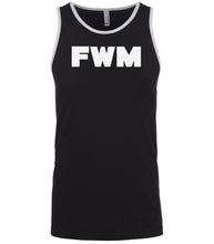 Load image into Gallery viewer, black fwm mens tank top