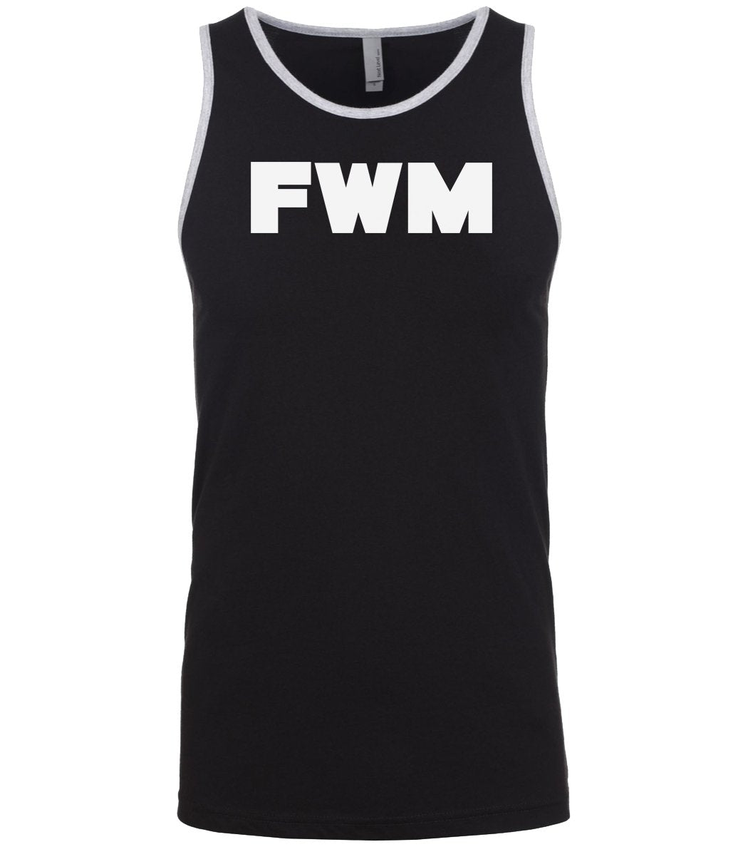 black fwm mens tank top