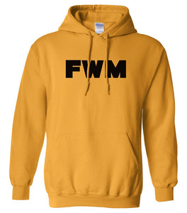 yellow fwm mens pullover hoodie