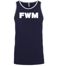 Load image into Gallery viewer, navy fwm mens tank top