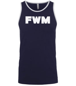 navy fwm mens tank top