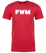 Load image into Gallery viewer, red fwm mens crewneck t shirt