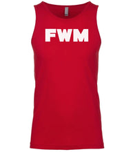 Load image into Gallery viewer, red fwm mens tank top
