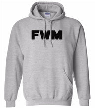 Load image into Gallery viewer, grey FWM hooded sweatshirt for women