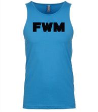 Load image into Gallery viewer, blue fwm mens tank top
