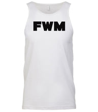 Load image into Gallery viewer, white fwm mens tank top