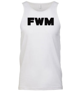 white fwm mens tank top