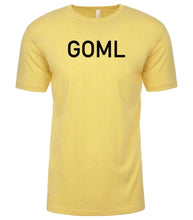 Load image into Gallery viewer, yellow goml mens crewneck t shirt