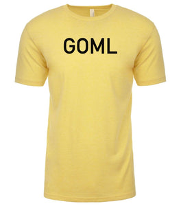 yellow goml mens crewneck t shirt