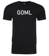 Load image into Gallery viewer, black goml mens crewneck t shirt