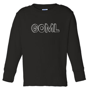 black GOML long sleeve t shirt for toddlers