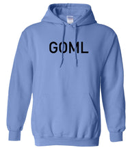 Load image into Gallery viewer, blue GOML hooded sweatshirt for women