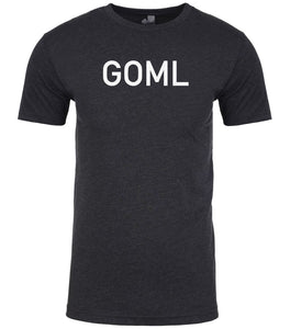 charcoal goml mens crewneck t shirt