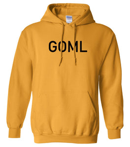 yellow goml mens pullover hoodie