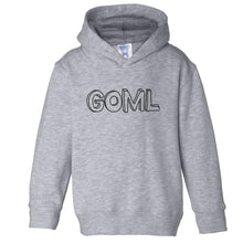 Load image into Gallery viewer, grey GOML hooded sweatshirt for toddlers