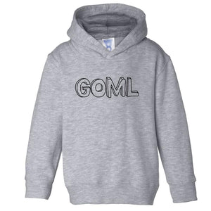 grey GOML hooded sweatshirt for toddlers