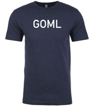 Load image into Gallery viewer, navy goml mens crewneck t shirt
