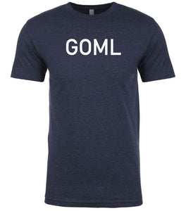 navy goml mens crewneck t shirt