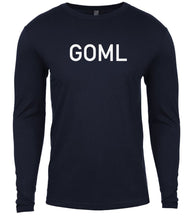 Load image into Gallery viewer, navy goml mens long sleeve shirt