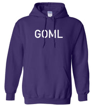 Load image into Gallery viewer, purple GOML hooded sweatshirt for women