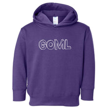 Load image into Gallery viewer, purple GOML hooded sweatshirt for toddlers
