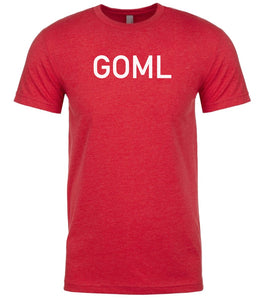 red goml mens crewneck t shirt