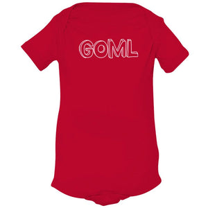 red GOML onesie for babies
