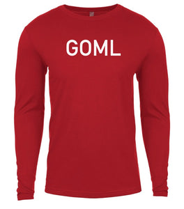 red goml mens long sleeve shirt