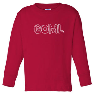 red GOML long sleeve t shirt for toddlers